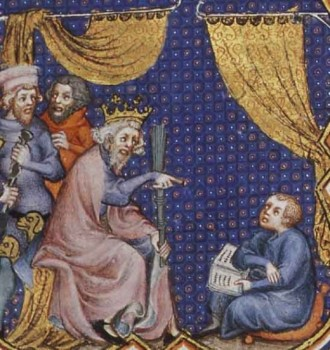 King Talking to Child